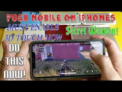 PUBG Mobile On IPhones:  How To Enable 3D Touch Now! (Up Game Instantly MUST DO NOW!