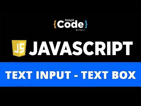 JavaScript Text Input | JavaScript Text Box | Taking Input From User In JavaScript