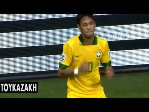 Неймар: лучшие финты и голы за сборную Бразилии! 2014г.