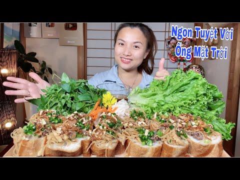 Ngất Ngây Mâm Bánh Mì Hấp Nhân Bì Thịt Kiểu Sì Gòn Gói Rau Chấm Mắm #593