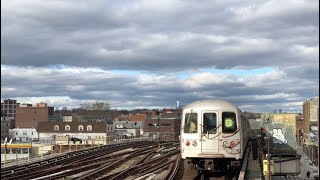 ⁴ᴷ R46 & R160 (G) Trains to Coney Island Action