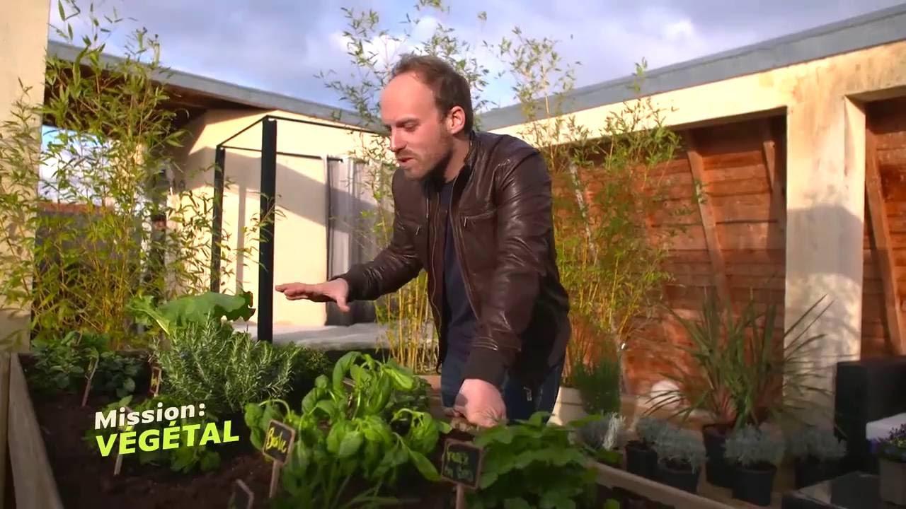 Bac A Plantes Aromatiques dedans un carr� de plantes aromatiques sur une terrasse - youtube