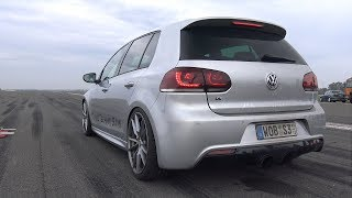800HP Volkswagen Golf 6 R R32 Turbo 4Motion 1/2 Mile Drag Race