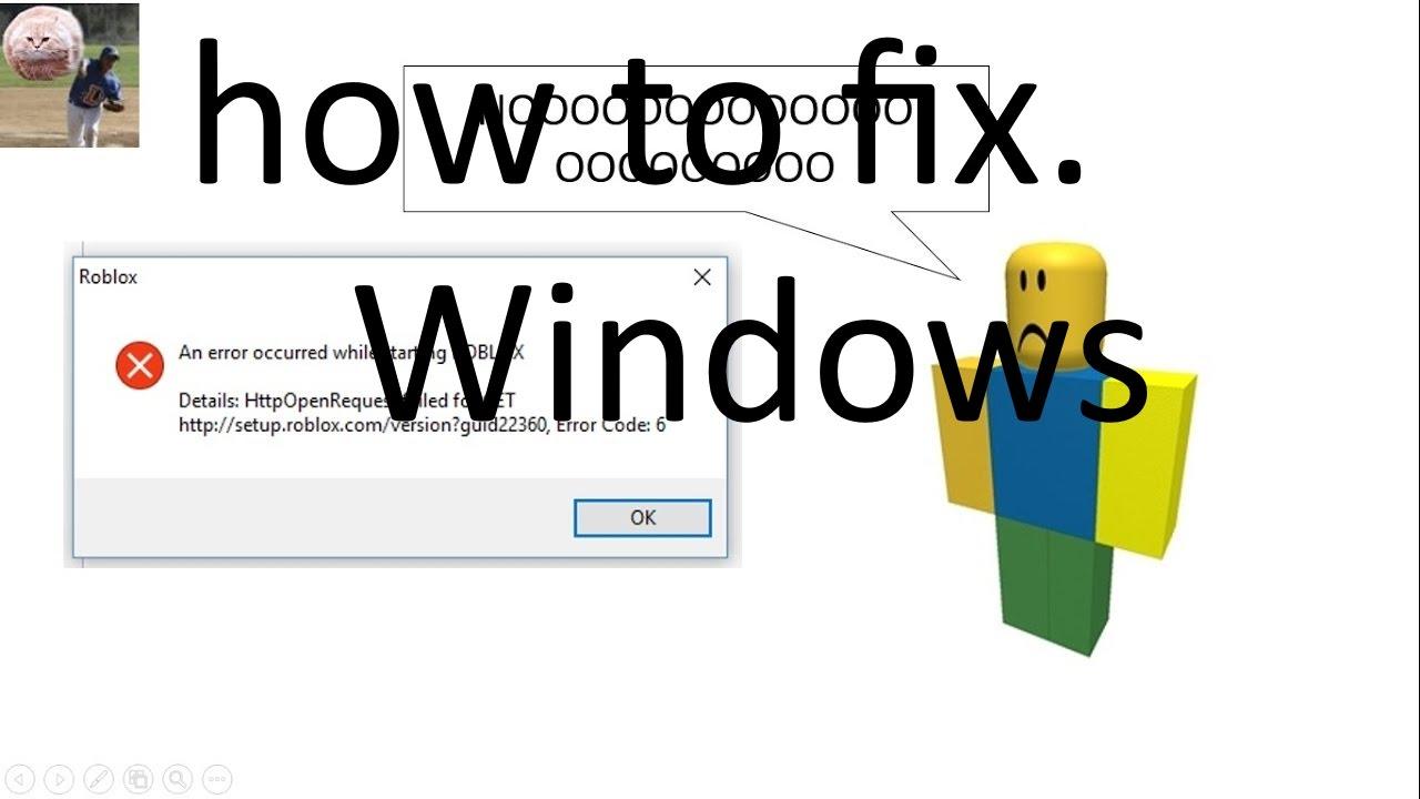 How To Fix Roblox Error Code 6