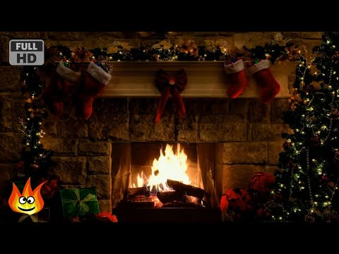 Christmas Fireplace Scene with Crackling Fire Sounds (6 hours) - Поисковик музыки mp3real.ru