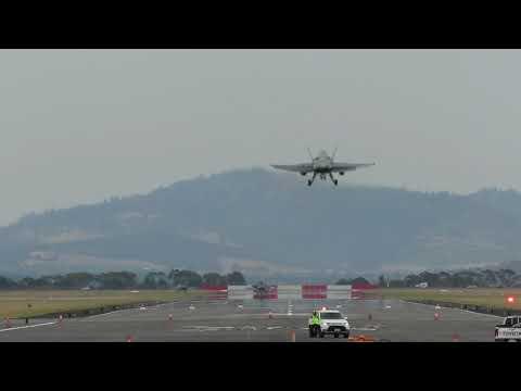 FA18 Hornets at Hobart International...