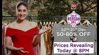 Kareena is all excited for Myntra End Of Reason Sale 22-25th Dec