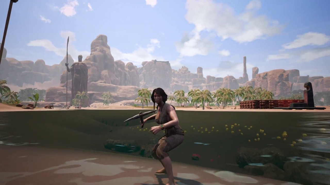 conan exiles gameplay - the beginning (first base) | adult games