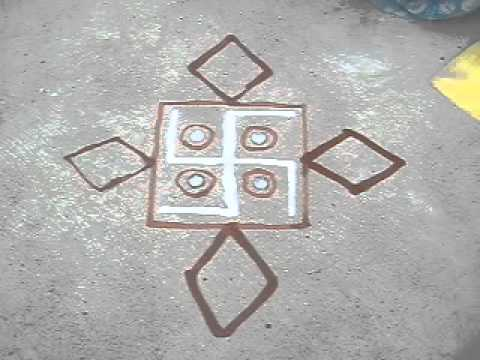 Making Rangoli | Drawing Rajasthani Mandana | Diwali Rangoli
