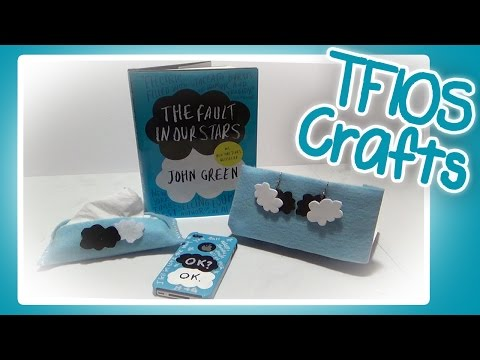 DIY The Fault in Our Stars Tissue Pack, Phone Case, and Earrings!