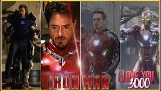 Iron Man All Suit Transformation Scenes (2008-2019) Robert Downey Jr. Movie HD [1080p]· Marvel