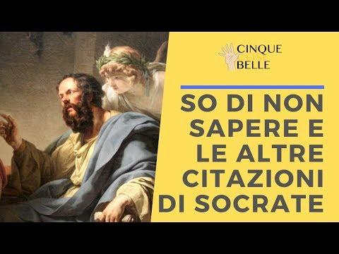 So Di Non Sapere Cinque Citazioni Di Socrate Tramite Platone