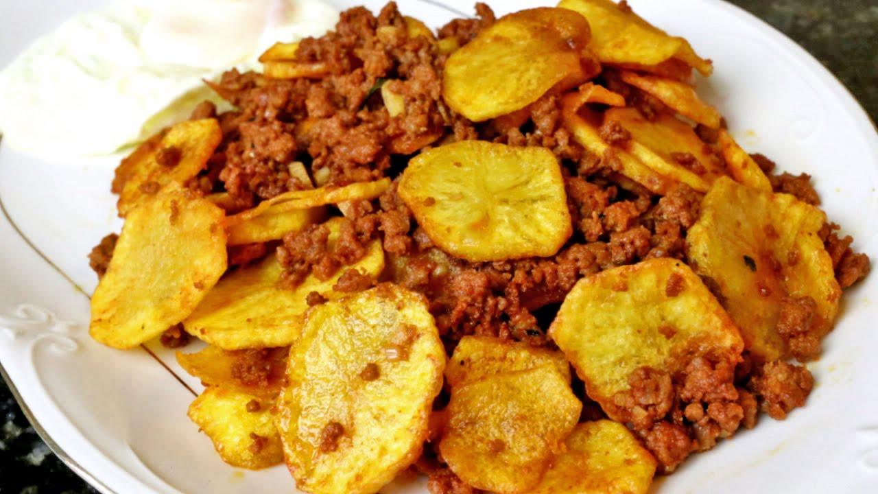Patatas fritas con carne adobada youtube - Bacalao con garbanzos y patatas ...