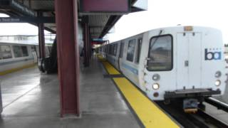 San Francisco Bay Area Rapid Tansit: BART Yellow Line Train at Pittsburg/Bay Point Station