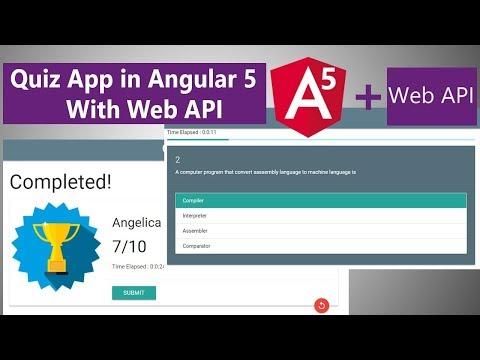 Angular 5 Quiz App With Web API