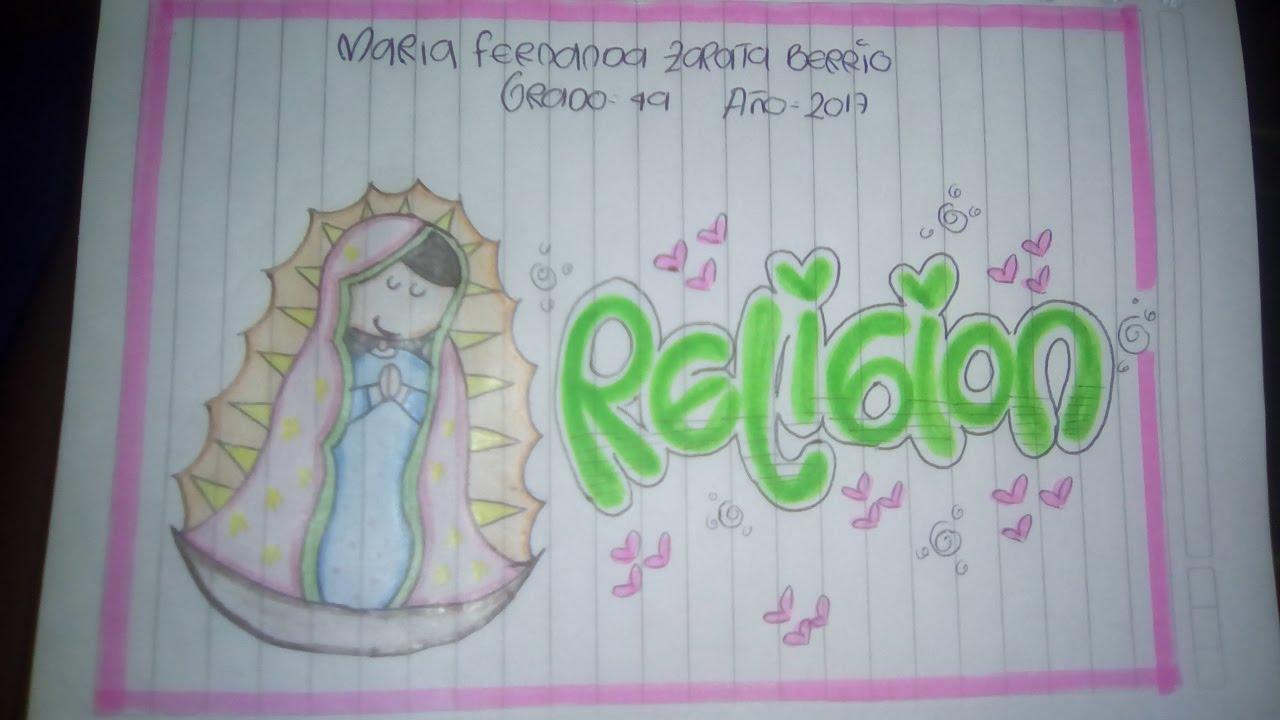 como marcar los cuadernos (area de religion)