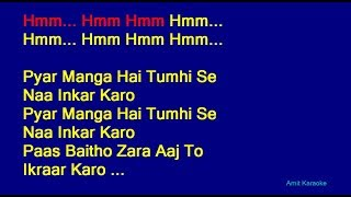 Pyar Manga Hai Tumhi Se - Kishore Kumar Hindi Full Karaoke with Lyrics