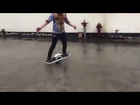 Brand new one wheel electric skateboard demo