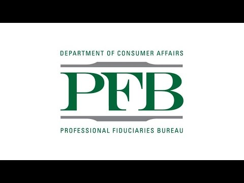 Professional Fiduciaries Bureau Advisory Committee Meeting -- May 3, 2017