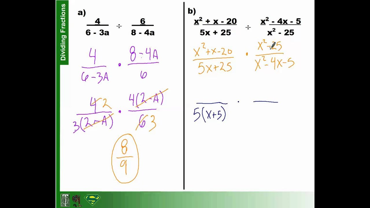 How To Divide Fractions With Polynomials Part 2 (63)