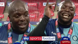 Best post-match interview ever?! 🤣🙌  Akinfenwa celebrates Wycombe's promotion