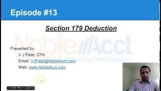 Section 179 Deduction   Episode #13