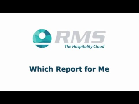 RMS Webinar: What Reports for me