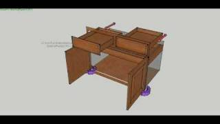 Movie Of Kitchen Cabinet Organization Using Sketchup And Sketchy Physics Plugin