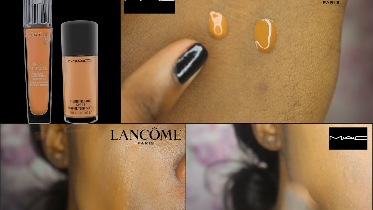 My Experience With Mac Studio Fix Nw45 Vs Lancme Tient Miracle