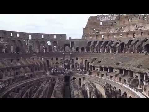 A look inside The Colosseum.  Rome, Italy.