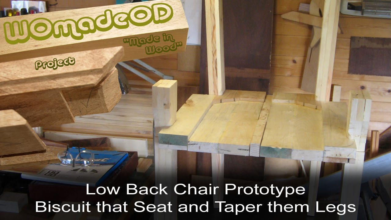 Sexy Low Back Chair Prototype - 2. Biscuit Seat & Taper Legs