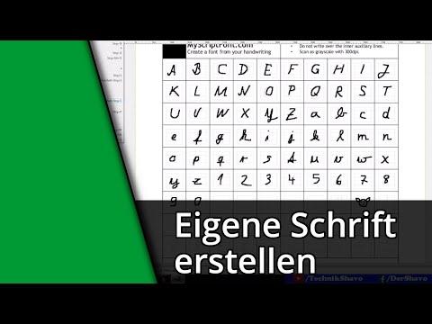 Tutorial | Eigene Schriftart Erstellen [Deutsch/HD]