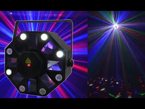 GENSSI LPXB12RG LED DJ Light, Strobe and Laser Combo