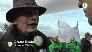 Manifestatie bij Airport Lelystad
