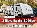 2017 Passport 3290BH Triple Slide Used Bunkhouse Ultralite Travel Trailer Only 6,390lbs!!