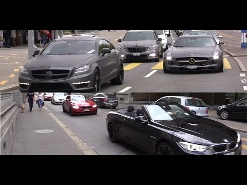 Best of BMW M and Mercedes AMG sounds in Zurich!