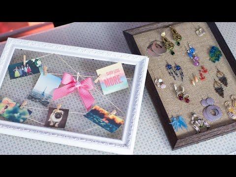 2 Creative Ways To Reuse & Repurpose Old Photo Frames