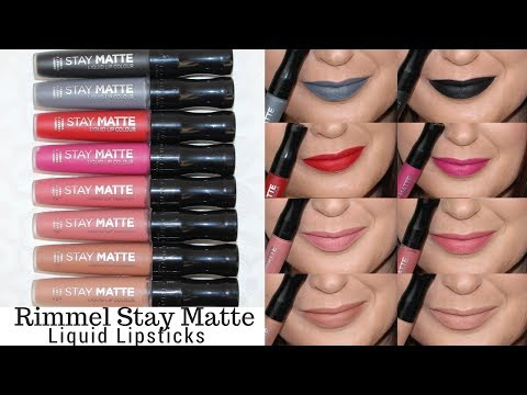 Rimmel Stay Matte Liquid Lipstick Review Swatches On Fair Skin