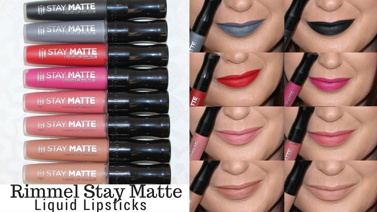 Rimmel Stay Matte Liquid Lip Swatches And Review Youtube
