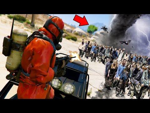 GTA 5 ZOMBIE MOD! MASSIVE ZOMBIE TORNADO Vs OUR BASE!?!?! *ZombieNado* (GTA 5 Mods)