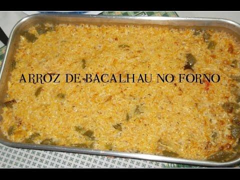 Arroz de Bacalhau no forno