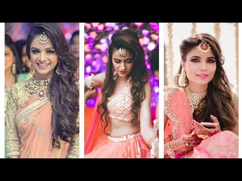 Open Hairstyle For Wedding Partyopen Hairstyle With Lehenga