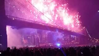 Fireworks 2014 Brooklyn bridge  ny