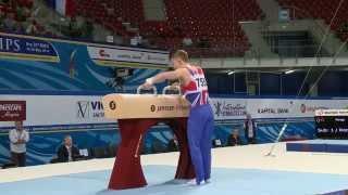 Nile Wilson - GOLD - pommel horse - Event Finals - 2014 Junior Euros