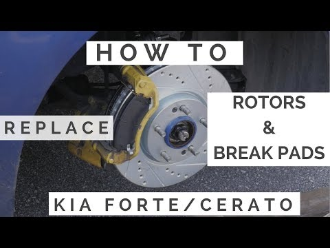 How to Replace Rotors and Pads Kia Forte/Cerato