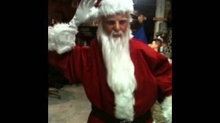 Ultra Real, Life Sized, Waiving Santa Figure