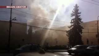 Incendiu la o autoservire din Ploiesti, din cauza unei guri de aerisire necuratata corect
