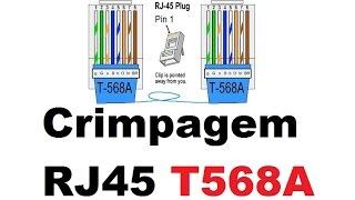COMO CRIMPAR RJ45 (CABO DE REDE) HOW TO CRIMP RJ45 ( NETWORK CABLE)