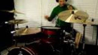 drumming to a funky bluesy bass groove good audio