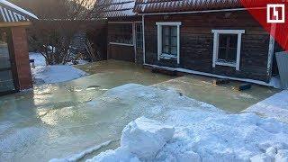 Дома замурованы льдом